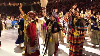 Grand Entry POWWOW 35th Annual Gathering Of Nations 2018 - Friday April 28 2nd