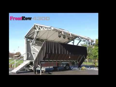 FR4300 Bandstand Mobile Stage - Fast Simple Push-Button Setup