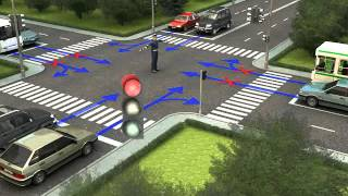 Действия водителей и пешеходов в случаях, когда указания регулировщика противоречат...