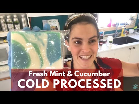 🔴 Making Fresh Mint & Cucumber Cold Processed Soap (Live recording)
