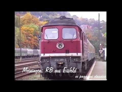 Eisenbahn in Thüringen vor 20 Jahren- Erinnerungen an den interessanten Bahnbetrieb 1996