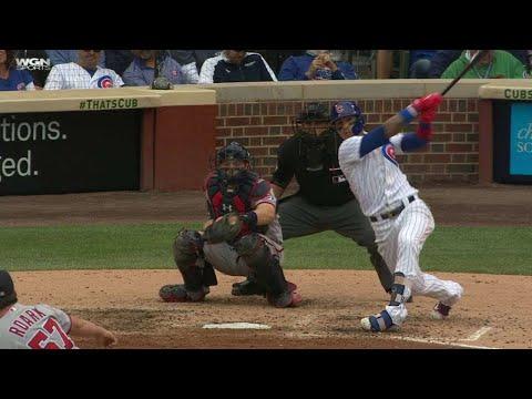 WSH@CHC: Baez crushes a two-run homer to...
