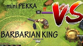 Shrink Pekka VS Barbarian King VS Shrink Barbarian King || Clash of Clans