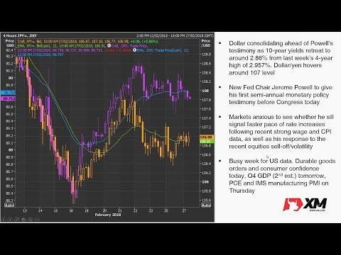 Forex News: 27/02/2018 - Dollar steady ahead of Powell testimony