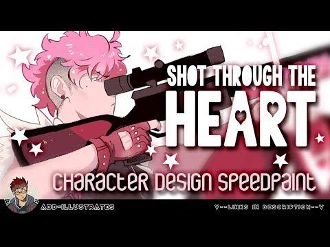 CHARACTER DESIGN SPEEDPAINT  Valentines Edition