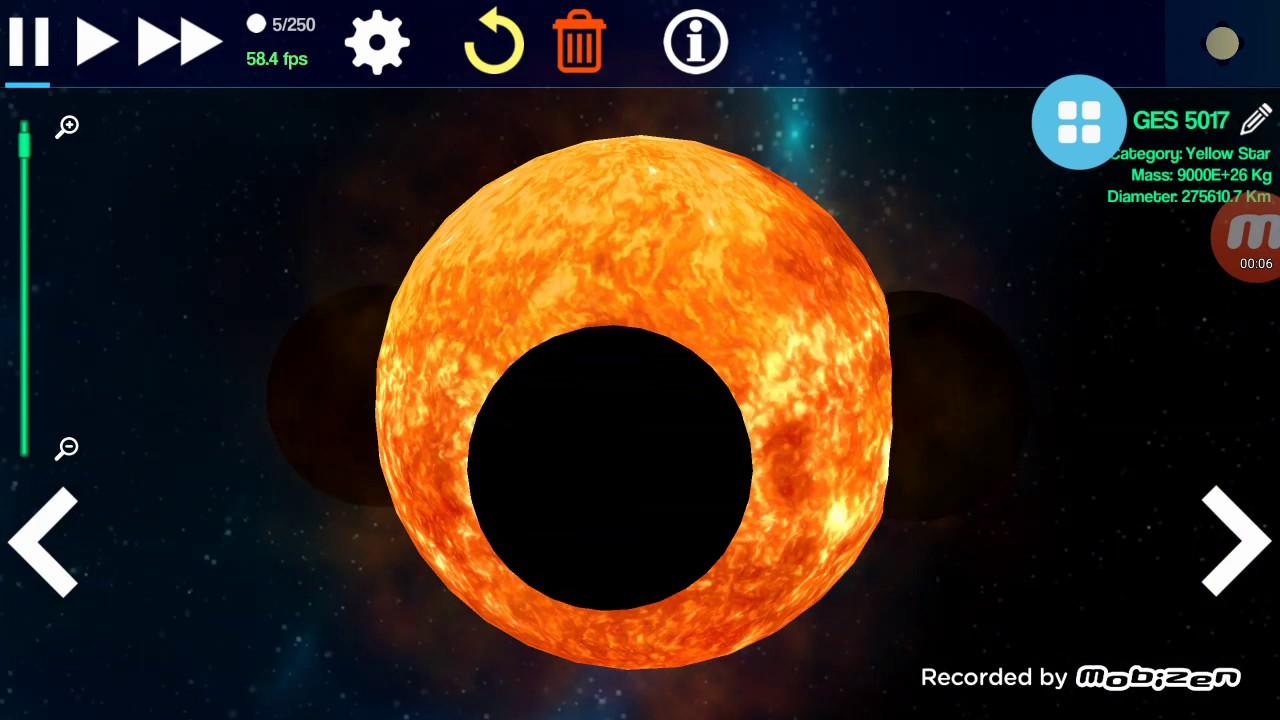 Black hole vs Sun - YouTube