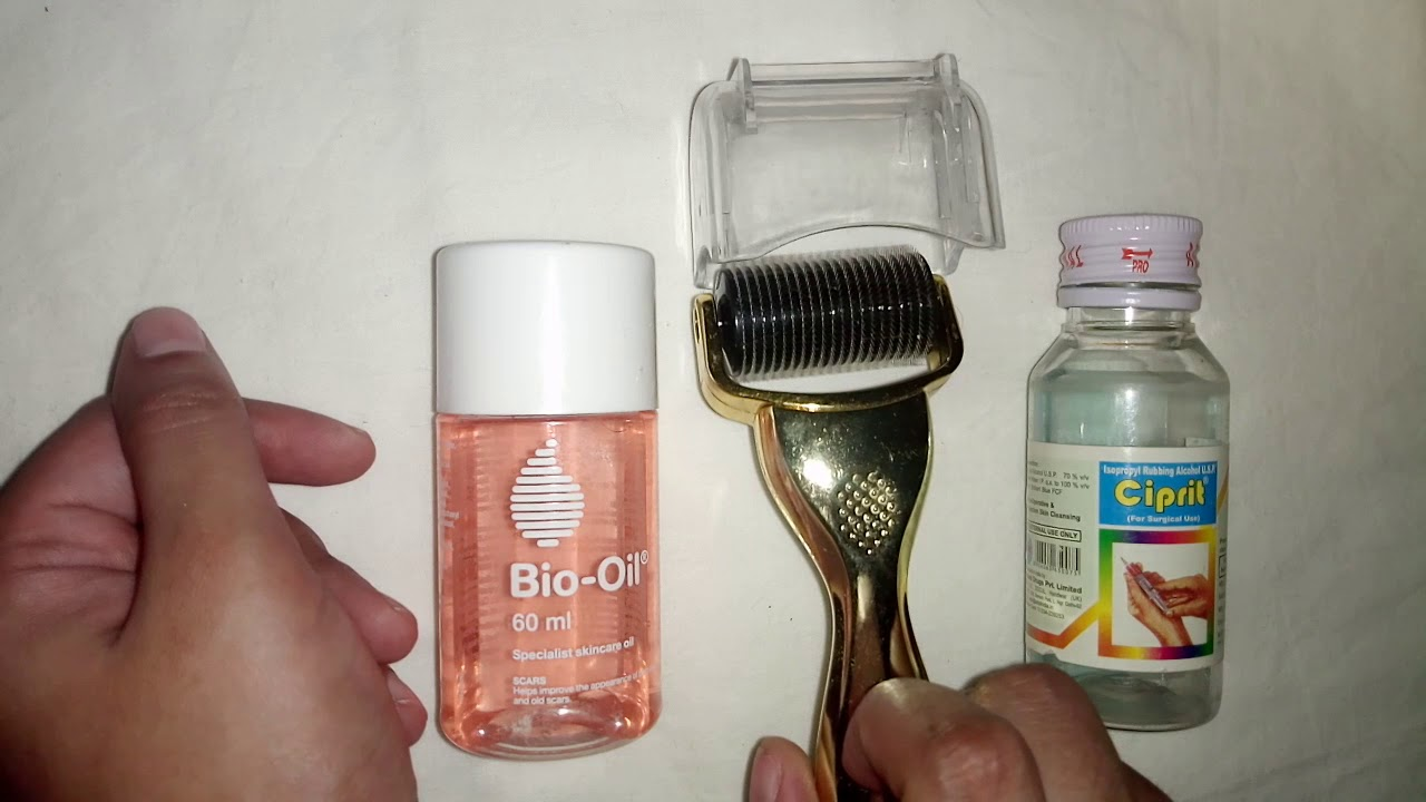 dermaroller bio oil