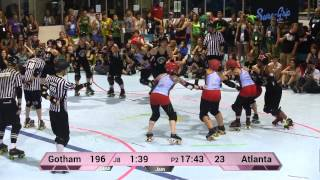WFTDA Roller Derby: Gotham Girls Roller Derby vs Atlanta Rollergirls - ECDX 2014