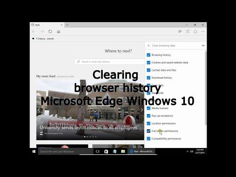 how to delete history on microsoft edge