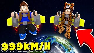 We LEFT the PLANET WITH the JETPACK at ROBLOX