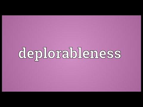 Header of deplorableness