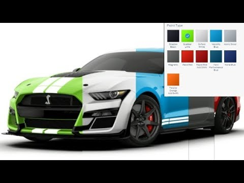 2020 Shelby Gt500 Colors Youtube