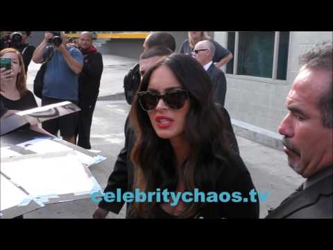 Actress Megan Fox Is Super Friendly To Her Fans In Hollywood