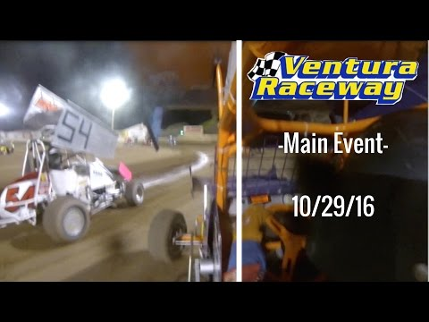 California Lightning Sprint at Ventura Raceway -Main Event- 10/29/16