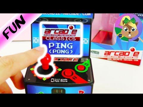 PONG para o ARCADE AUTOMAT para Smartphone   Jogando com Joystick   Mini Fliperama