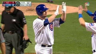 Lester crushes a two-run homer in the 3rd
