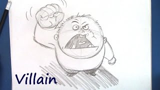 How to Draw a Villain - For Beginners - Step By Step
