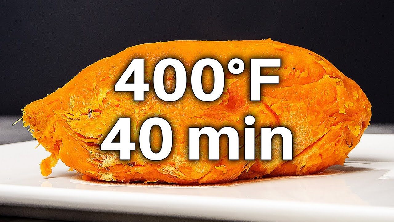 Baked Sweet Potato 400 Degrees For 40 Minutes Youtube