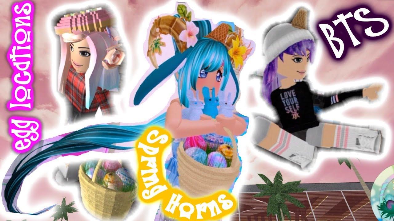 Spring Horns Bunny Tail Royale High Egg Hunt Roblox Bts Love