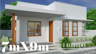 7mx9m (63sq.m) 3 Bedrooms Simple House Design (Subscriber's Request)