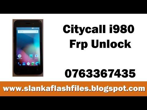 Citycall i980 Frp Unlock file - YouTube
