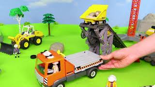 Fire Truck, Tractor, Police Cars, Excavator, Dump Trucks & Train Construction Toy Vehicles for Kids