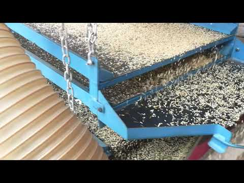 Quick demonstration of onion seed cleaner machine.