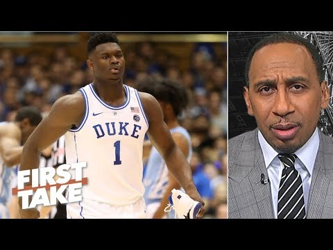 No way a healthy Zion should quit the season to prepare for the NBA Draft – Stephen A. | First Take thumbnail