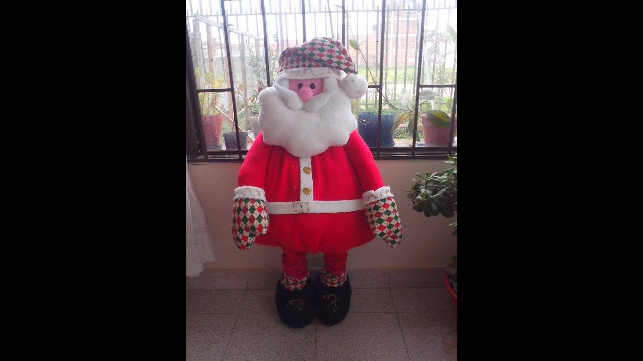 Papa noel gigante youtube for Hacer papa noel grande