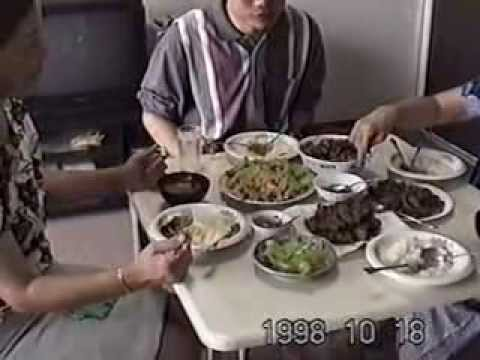 Mommy and Japanese Mom, with Thai Vegetarian Foods homemade in Chiba 1998