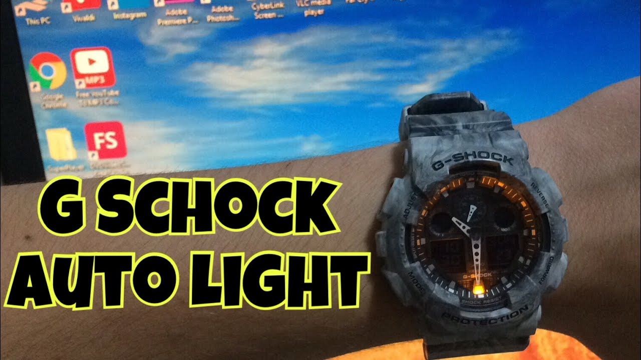 How to turn on auto light on G Shock
