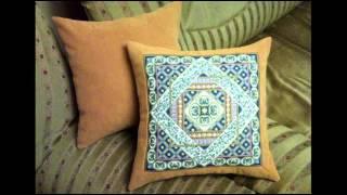 Винтажные диванные подушки в технике лоскутного шитья(Диванные подушки-это короли нашего интерьера. Обнимешь их и усталость проходит. В доме декоративных подуше..., 2014-12-21T21:46:34.000Z)