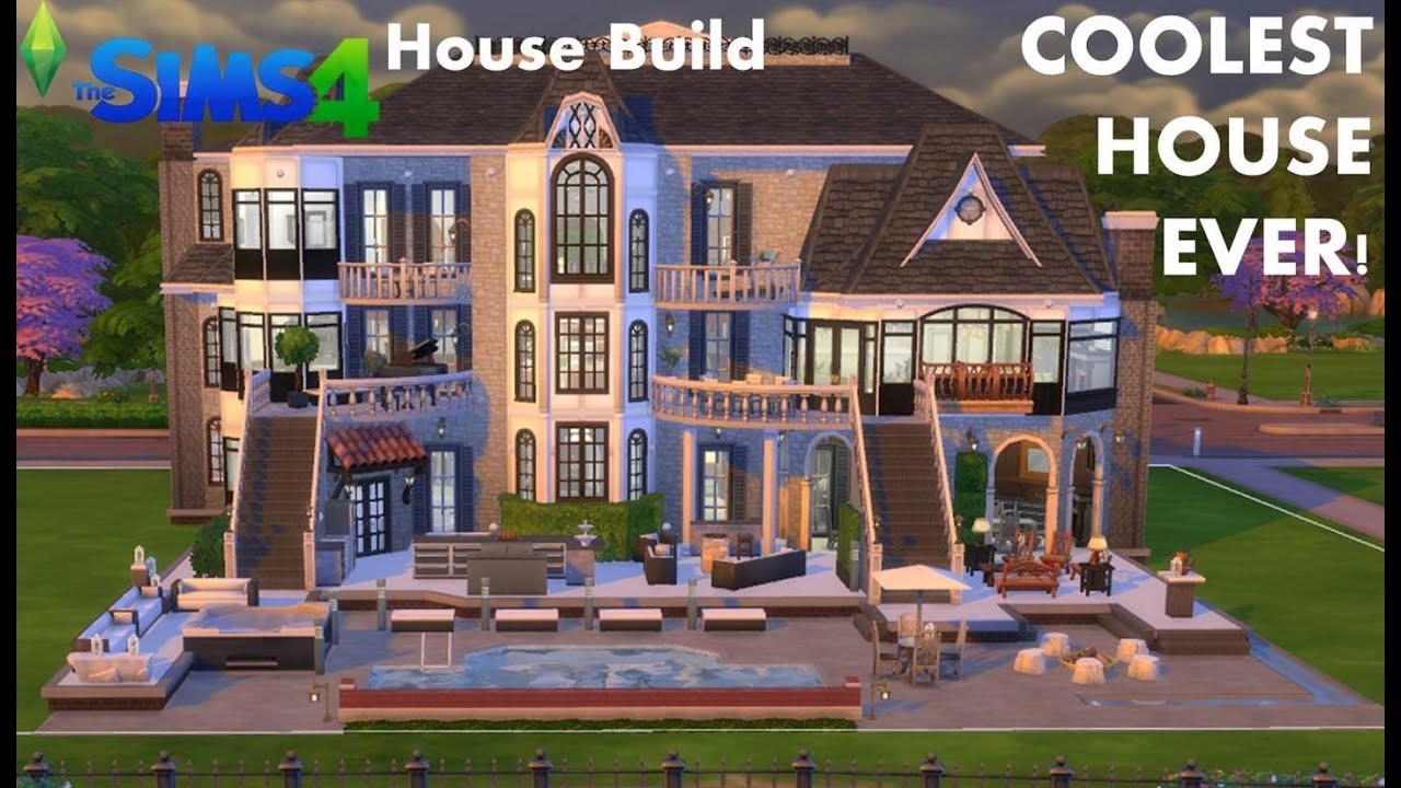 The Sims House Build Mansion COOLEST HOUSE EVER TOUR YouTube - Cool sims 3 houses