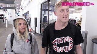 Faze Tfue & Corinna Kopf Talk Logan Paul Breakup, Fortnite, Coachella & More At LAX 4.10.19
