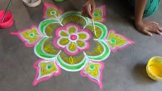 Easy & latest rangoli designs techniques, आसान और नवीनतम रंगोली डिजाइन तकनीक,