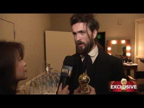 Alex Ebert - backstage interview - Golden Globes 2014