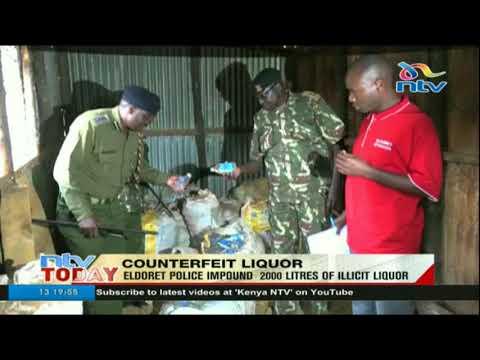 Eldoret police impound 2000 litres of illicit liquor