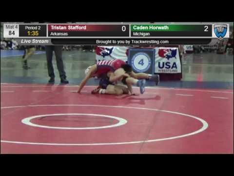 1443 Schoolboy 84 Tristan Stafford Arkansas vs Caden Horwath Michigan 8572557104
