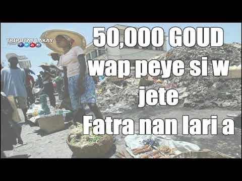 Wap gen pou peye anviron 50,000 Goud e menm pran prizon si yo bare w ap jete fatra nan lari P-AU-P