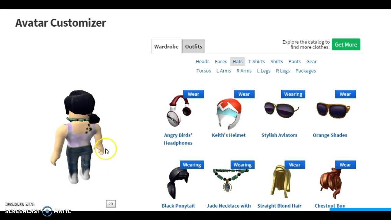Roblox How To Take Off And Put Stuff On Your Avatar Youtube