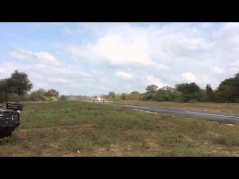 Prestige Air Charter King Air 200 taking off from Thornybush