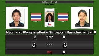 Snooker U18w Final : Nutcharat Wongharuthai vs Siripaporn Nuanthakhamjan