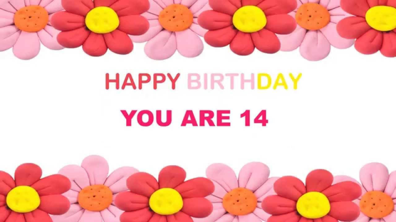 14 years old birthday postcards postales youtube 14 years old birthday postcards postales bookmarktalkfo Image collections