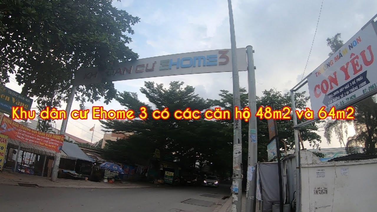 Khu dân cư Ehome 3 có các căn hộ 48m2 và 64m2