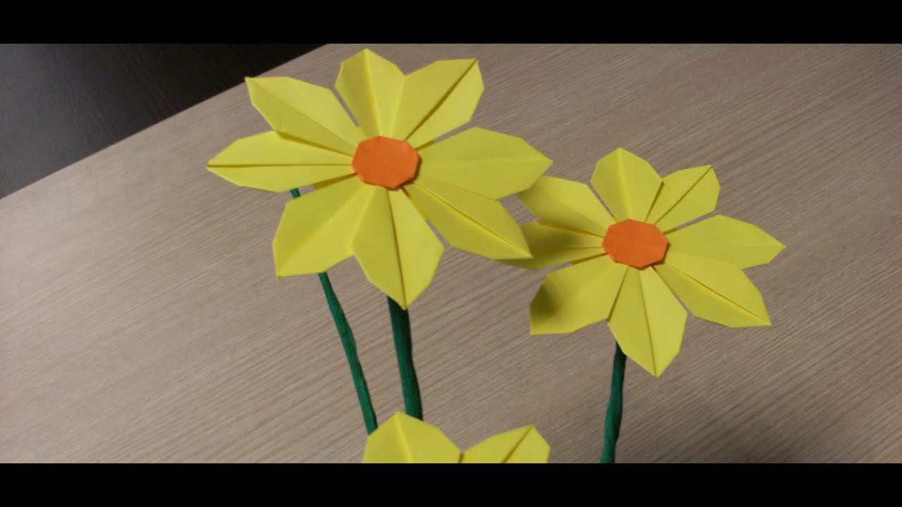 Origami Flowers Daisy How To Make Youtube
