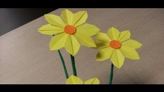 Origami Flowers - Daisy - How To Make