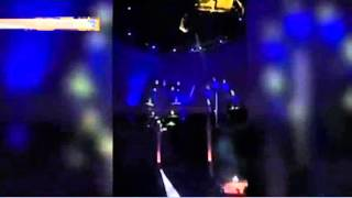 Роковое падение циркачки с 25-метровой высоты сняли зрители шоу