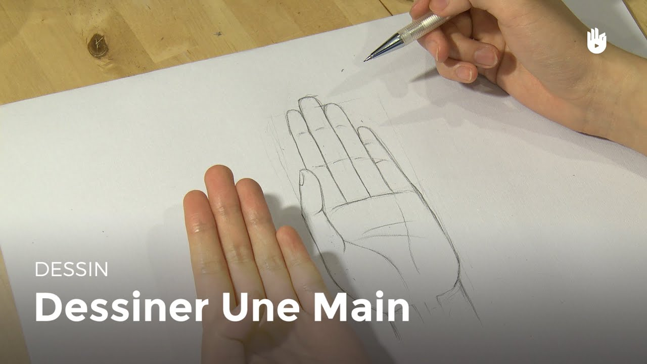 Dessin dessiner une main hd youtube - Comment dessiner une tresse ...