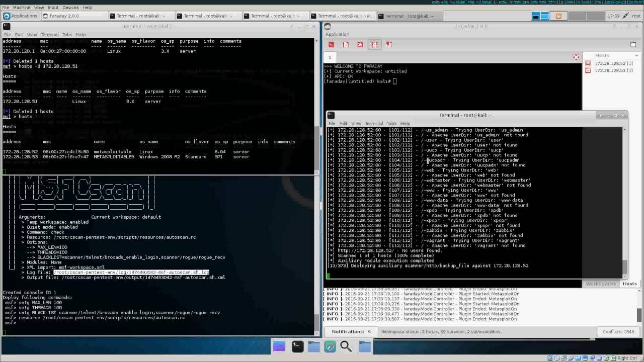 pentest-env cscan msfrpc discovery+autoscan