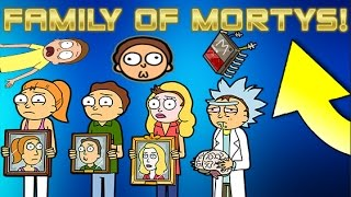Pocket Mortys - The Family Of Mortys! Jerry, Summer, Beth, And Rick Morty!